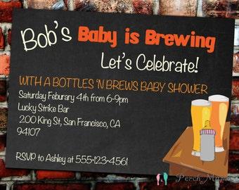 Bottles 'n Brews Shower Invite