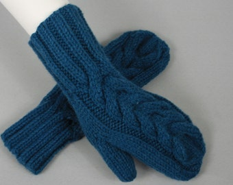 Beautiful hand knitted mittens. One finger gloves for ladies, available in many colours.
