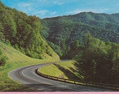 "Ca. 1970s ""Great Smokey Mountains"" in NC Topographical Picture Postcard - 1314"