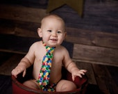Newborn or Boys The Very Hungry Caterpillar Polka Dot Neck Tie Photography Prop