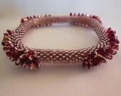 Bead Crochet Bangle:  Ruby Slippers
