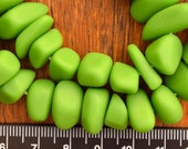 Resin Ice Chip beads Solid Lime Green