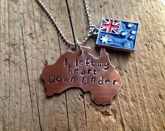 Australia Australian necklace flag custom Personalized pendant