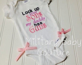 Lock Up Your Sons--Onesie--0-3 Months--Ready to Ship