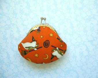 Halloween ghosts coin purse - Holiday gift, Handmade Gift