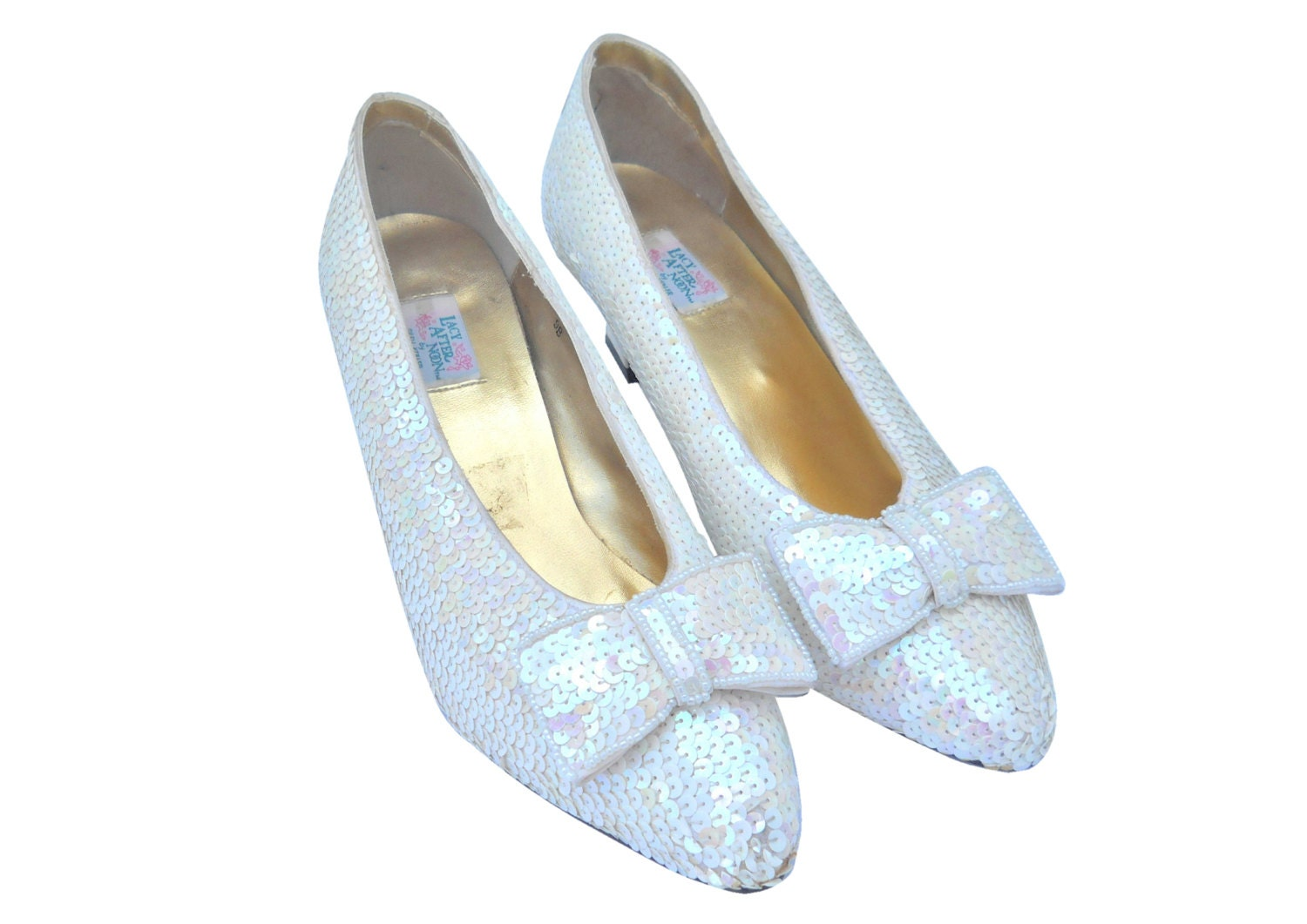sequin shoes white pumps sparkle heels by shinebrightvintage