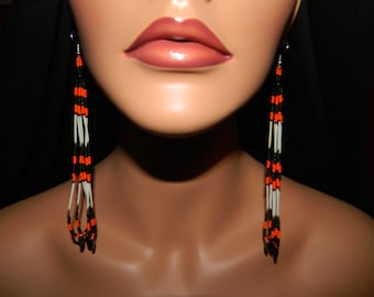 """Native American made Harley Quill Dangles with Daggers 5-1/2"""""""