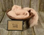 Mushroom-Needle Felting  Wool - Natural Wool Roving- Wet Felting Wool-Nuno Felting-Spinning