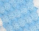 Baby Blanket Pattern Easy Crochet Tutorial 3D Puffy Shell Textured Reversible Fiber Arts Craft Crochet Tutorial Pattern 3 sizes