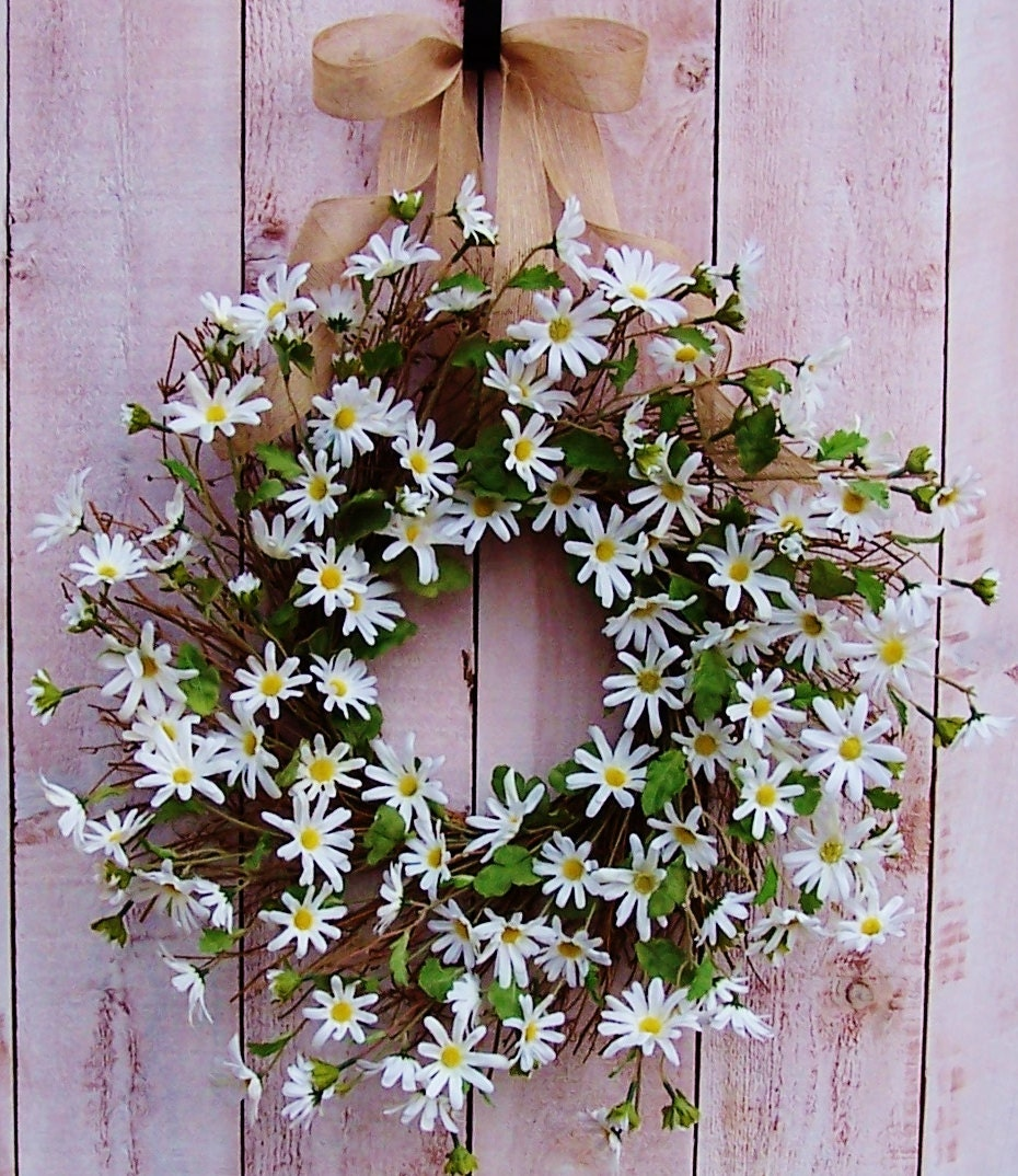 Spring Wreath Front Door Wreath Summer Wreath Spring Summer Door Wreath  RUSTIC