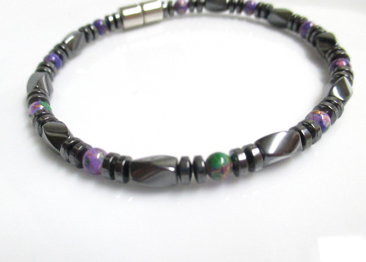 magnetic bracelet magnetic therapy bracelet magnetic purple