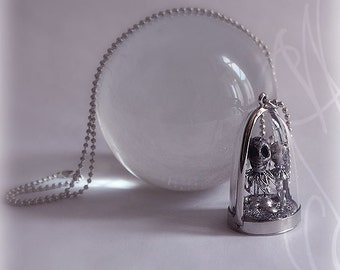 """Handcrafted and fine necklace with gothic touch - """"Fleurs du Mal"""" - Necklace 10"""