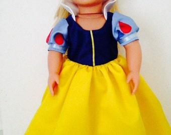 "Sale Disney Princess Snow White Dress for 18"" Doll"