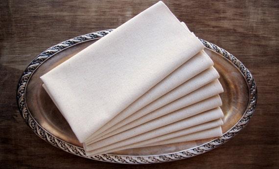 "100% Organic Unbleached Cotton Muslin & Thread Handkerchief Standard (14X14"") Size - Natural Tissue Alternative, - Choose Your Quantity"