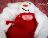 Snowman Hat, Snowman, Winter Hat, Photo Prop