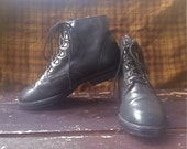 Black Lace-up White Mountain Boots Size 6.5