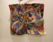 SALE of Felt art BIRDS of PARADISE - picture, tapestry, wall hanging - abstract, original, unique, one of a kind, pure wool, handmade