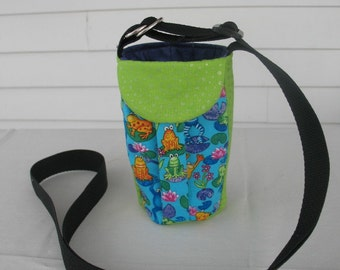Water Bottle Holder Sling//Walkers Insulated Water Bottle Cross Body Bag// Hikers Water Bag