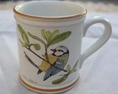 Vintage DENBY Titmouse Bird Mug Cup English Country Cottage Garden Home Decor