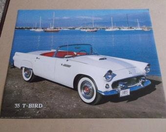 Vintage 1985 Brad Wagner Poster/Photograph,1955 T- Bird