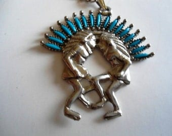 Necklace and Bracelet Native American Themed Turquoise Design