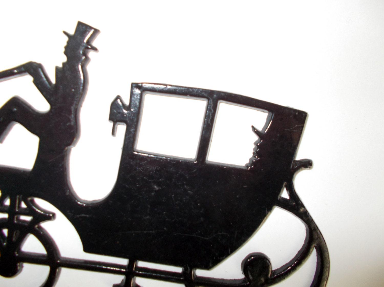 HORSE & BUGGY/ CARRIAGE Western Metal Art Silhouettes | eBay |Metal Horse And Buggy Silhouette