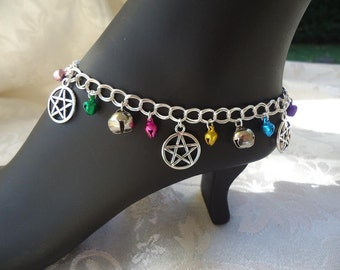 Jingle Bell Anklet with Pentacles