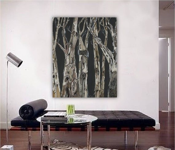 Oversized Living Room Wall Decor : Masculine decor living room extra large wall art black and