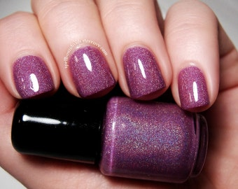 Enchanted Orchid - Custom Handcrafted Purple Holographic Nail Polish