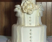 Fondant Faux 3-Tier Cake with Bow