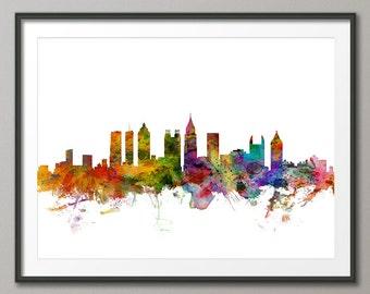 Atlanta Skyline, Atlanta Georgia Cityscape Art Print (1220)