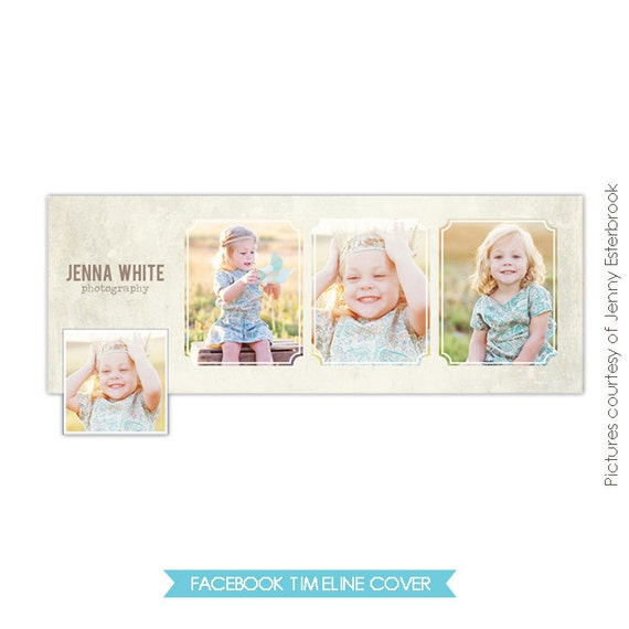INSTANT DOWNLOAD - Facebook custom timeline cover photoshop template - E493
