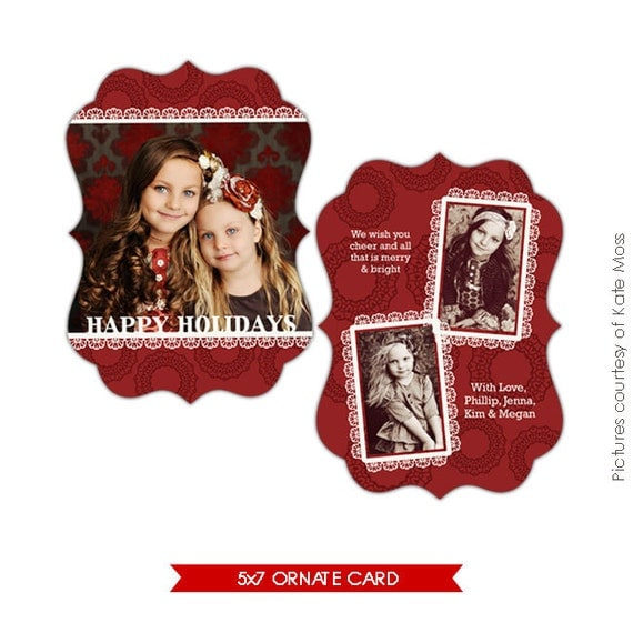 Ornate Holiday Card - Photoshop Template - Sweet times - E177