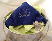 Hooded Baby Towel, Luxury 30 x 60 size, Hand-Embroidered