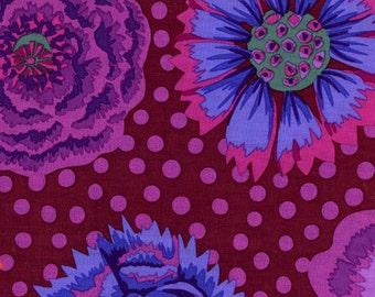 1/2 Yard Kaffe Fassett Fabric - 100% Cotton Quilt Fabric - Big Blooms Rust