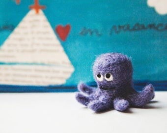 Miniature needle felted octopus