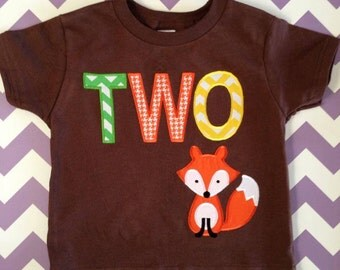 Fox Woodland Custom Birthday Shirt