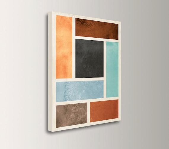 "Mid Century Modern - Canvas Print - Modern, Minimal Abstract Wall Art - Canvas Wall Decor - "" Median """