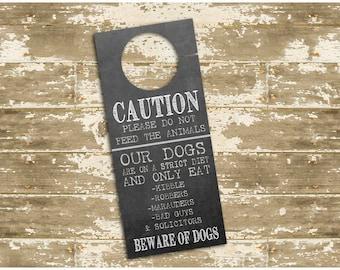 Beware of Dogs Door Hanger