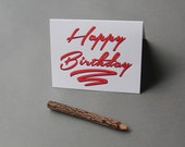 80's Happy Birthday, letterpress card
