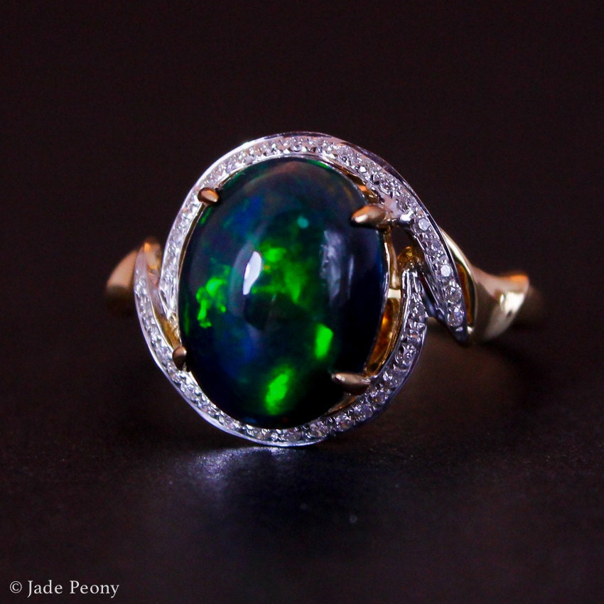 Opal Diamond Ring For Sale