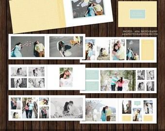 12x8 Layflat Album, Engagement Album, Guest Book, Album Template, Photo Album, Album Layout - AL7