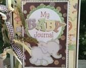Baby Scrapbook Journal Mini Album Premade Newborn Gift