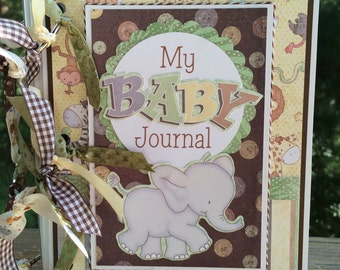 Baby Scrapbook Journal Mini Album Premade Newborn Gift