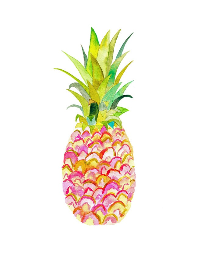 Vibrant image inside pineapple printable