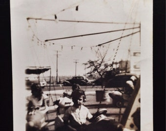 Original Antique Photograph At the Carnival 1947