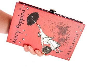 Book Clutch Purse- Mary Poppins