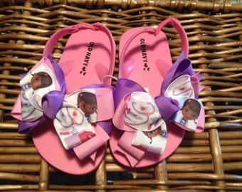 Doc McStuffins Toddler Girl Flip Flops Size: 10 (4 left)
