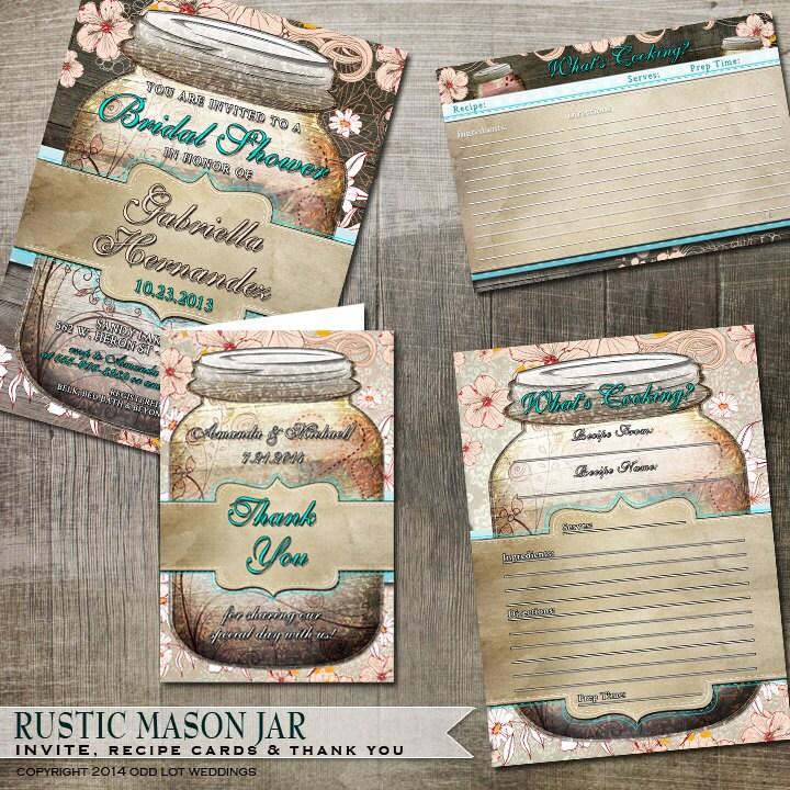 Mason Jar Bridal Shower Invitations as best invitations layout