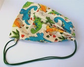 Children's bag dinosaur print drawstring bag ideal for kit, shoes, story bag etc